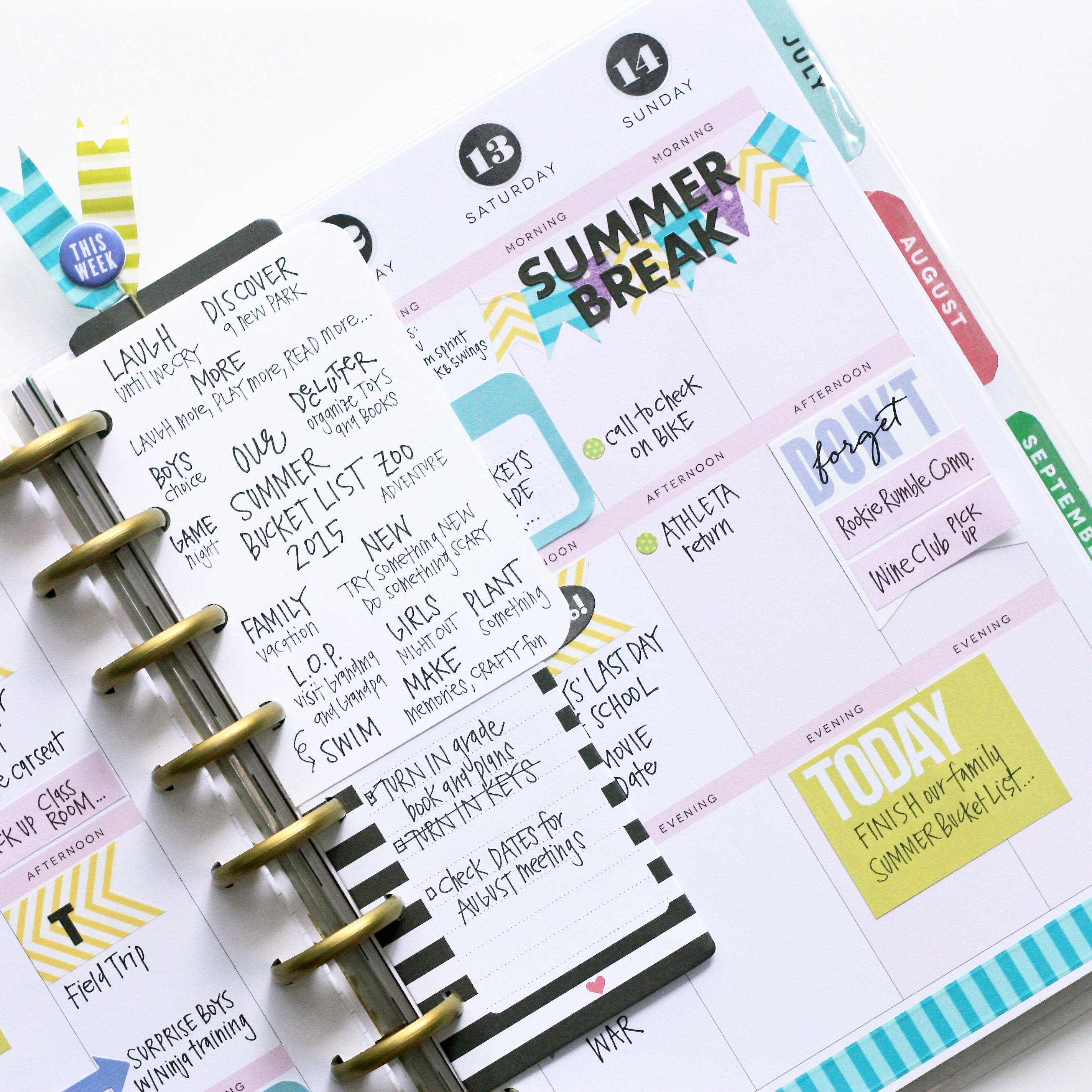 Project life for Happy planner ideas